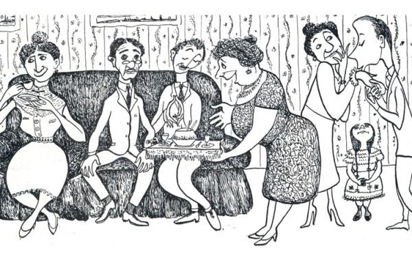 Σκίτσο Μίνου Αργυράκη, το ΣΥΝΟΙΚΕΣΙΟ -περιοδικό ΖΥΓΟΣ 1956