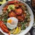 Ζεστή σαλάτα με αβοκάντο και kale