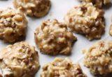 Μπισκότα με άρωμα καραμέλας και καρύδας