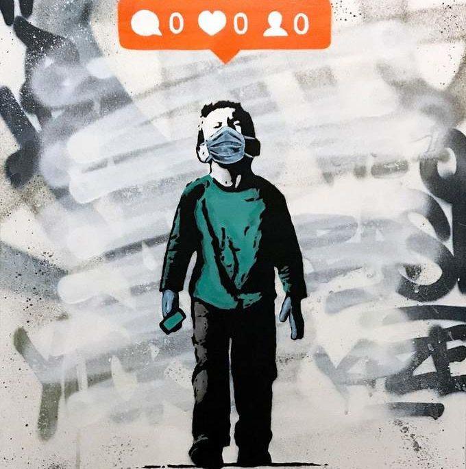 Οι καλλιτέχνες του δρόμου απαντούν στην καραντίνα με murals στους τοίχους