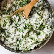 Ρύζι με κόλιανδρο και lime