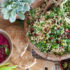 Σαλάτα ταμπουλέ με κουνουπίδι, ρόδι και φιστίκια