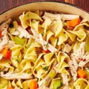 Σούπα με noodles και γαλοπούλα
