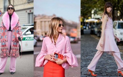 Φέτος την άνοιξη συνδύασε το millennial pink με το πορτοκαλί