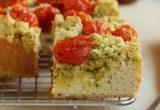 Αλμυρό κέικ με ψητά ντοματίνια