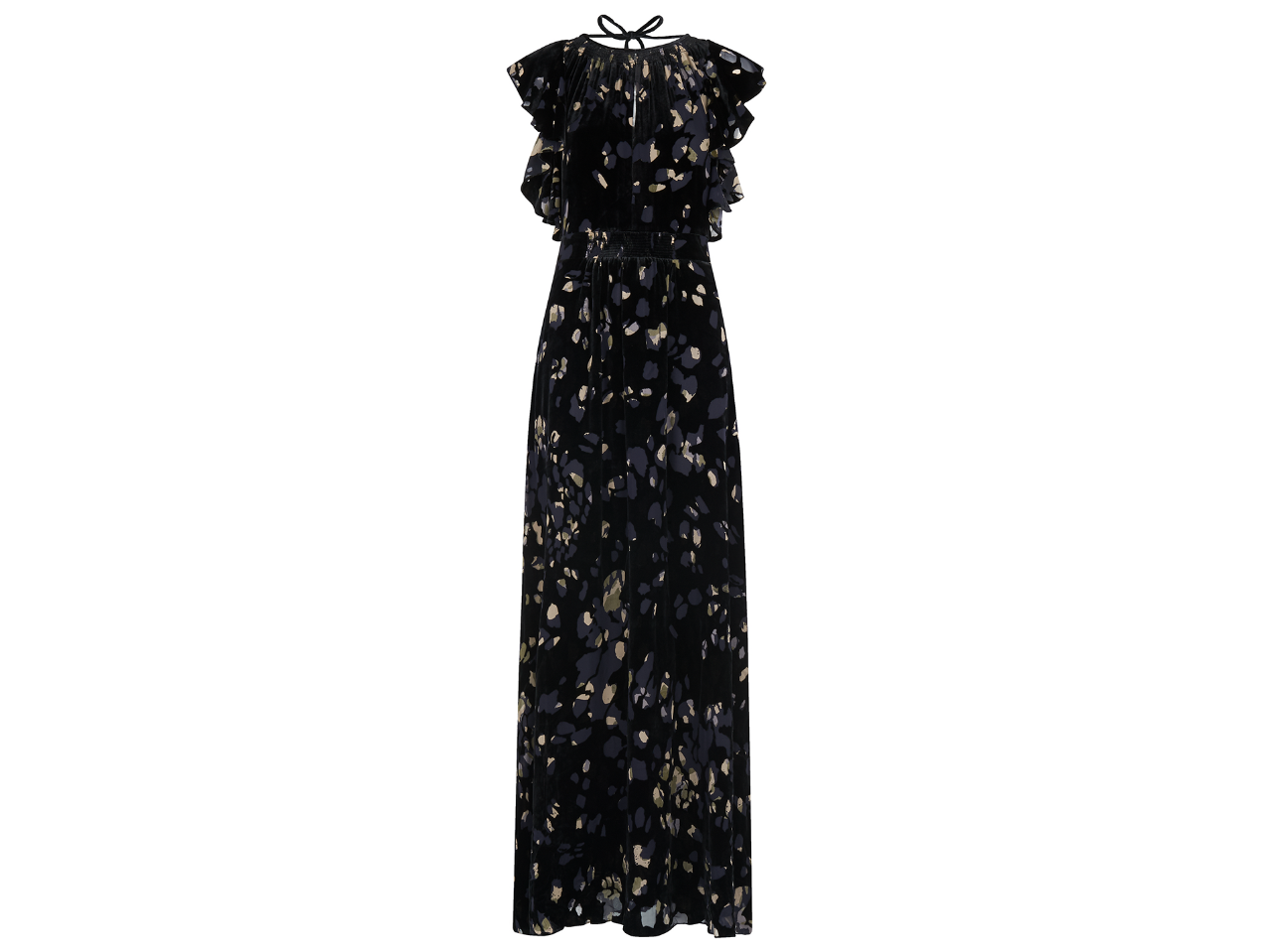 Printed Devore Maxi Dress, Wristles