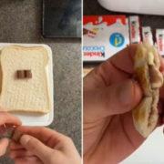 Η νέα εμμονή του TikTok ονομάζεται «Kinder Chocolate toasties» και είναι ό,τι πιο λαχταριστό είδαμε τελευταία
