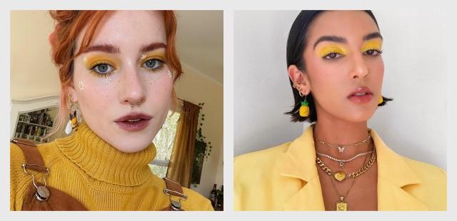 κίτρινη σκιά ματιών