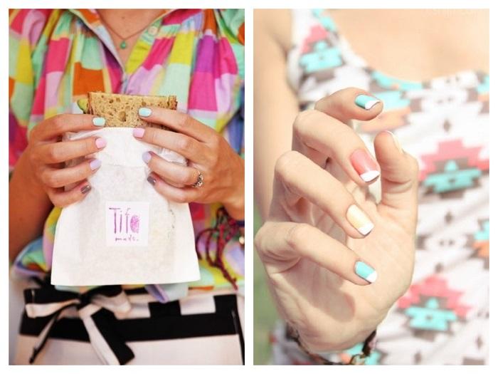παστέλ νύχια collage 1- savoir ville