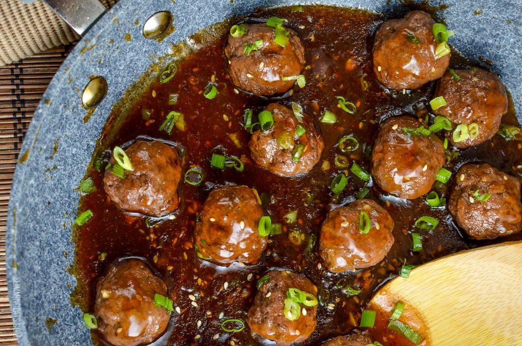 Κεφτεδάκια γαλοπούλας με σπιτική teriyaki sauce