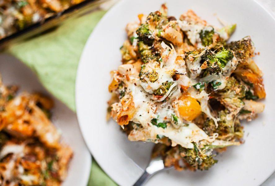 Ζυμαρικά με λαχανικά στον φούρνο