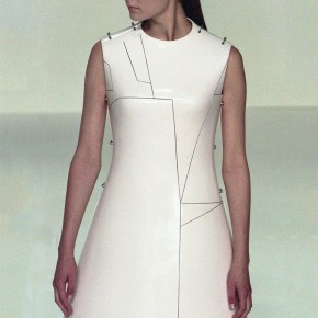Erika Wall at Before Minus Now, Hussein Chalayan Spring 2000.