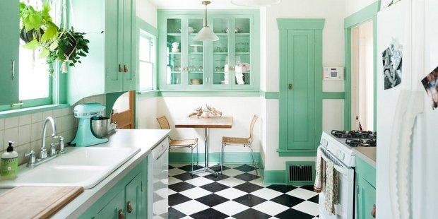 Το mint green είναι το χρώμα που λείπει από την κουζίνα σου