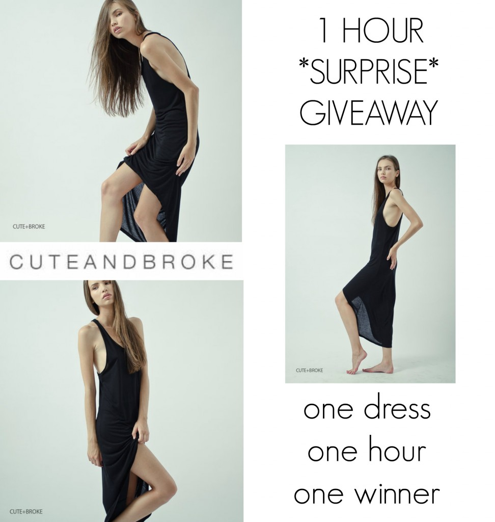 1 hour surprise giveaway with Cute+Broke