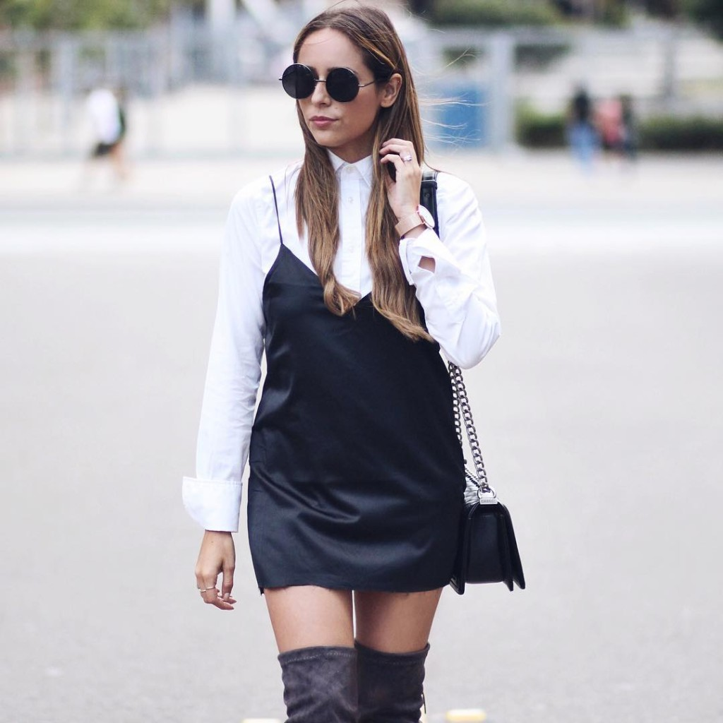 divanidosa : Loving this silky little dress from @lulus || #lovelulus #streetstyle #silk #womensfashion #outfit