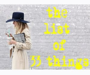 The list of 33 things