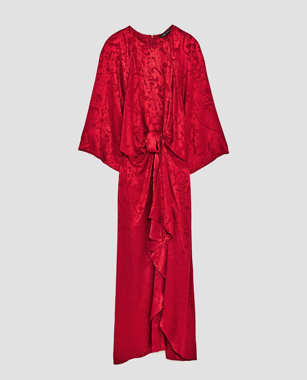 Printed Devore Maxi Dress, Zara