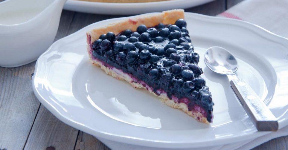 Τάρτα με τυρί κρέμα και blueberries