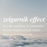το λεγόμενο φαινόμενο Zeigarnik