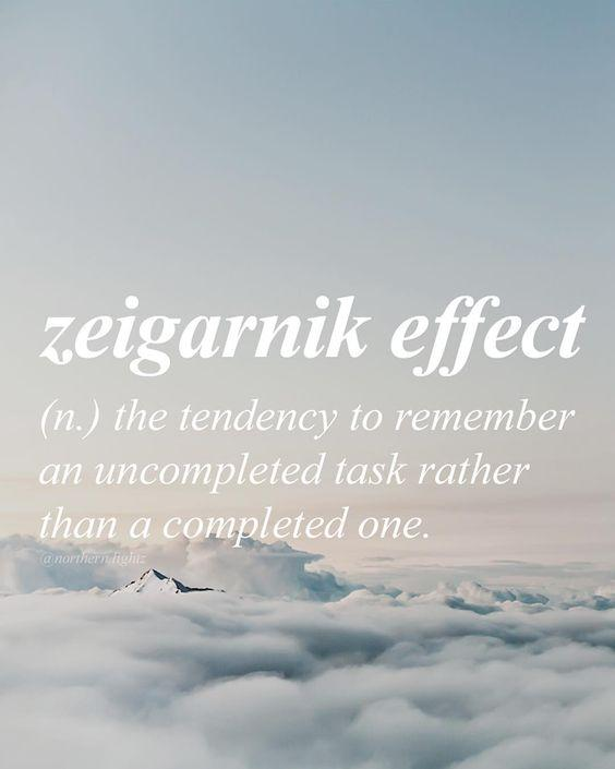 zeigarnik effect