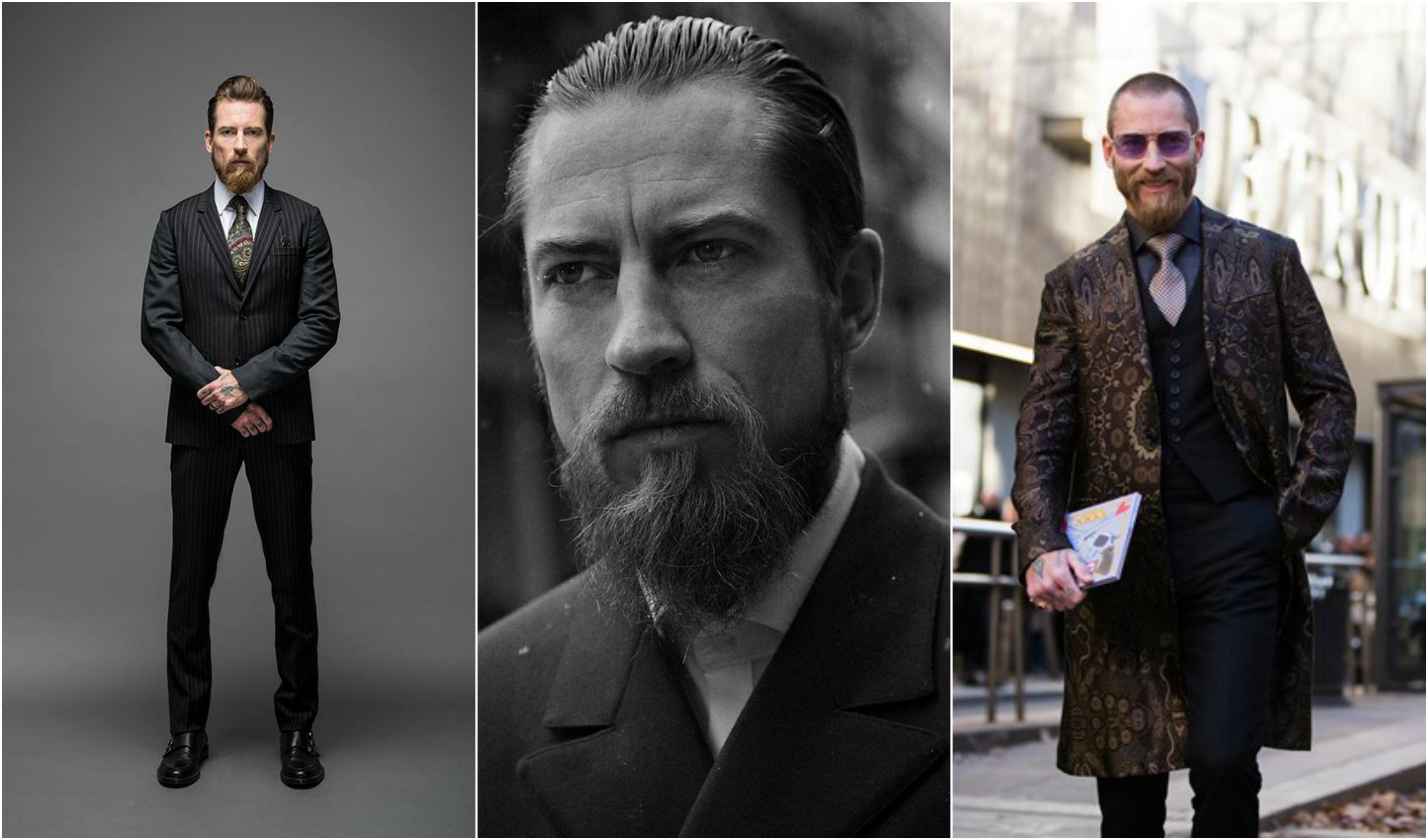 Τhe Bearded, Tattooed Badass Wall Street fashion gangster: Justin O' Shea