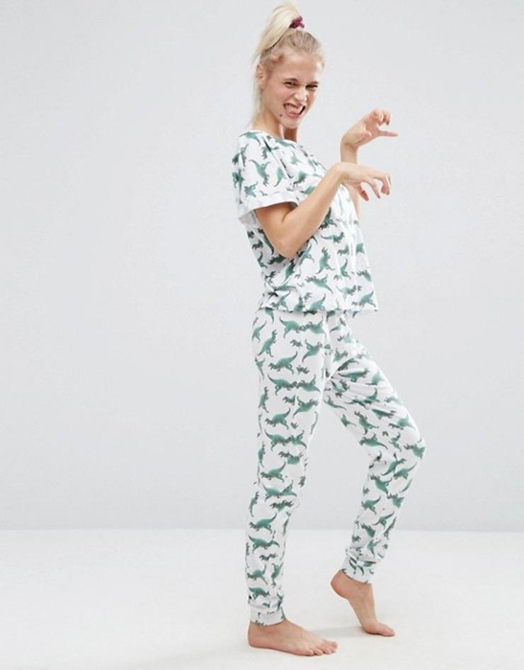 asos-dinosaur-tee-legging-pajama-set
