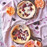 Blackberry Dutch Baby Pancakes