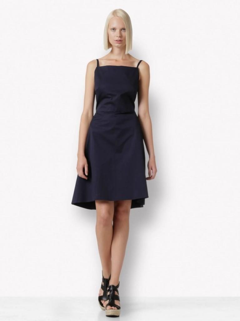 Dark blue cotton dress (Custom)