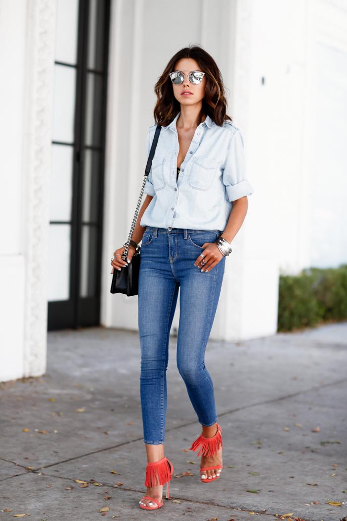 Πώς να φορέσεις τα ψηλόμεσα 90's jeans