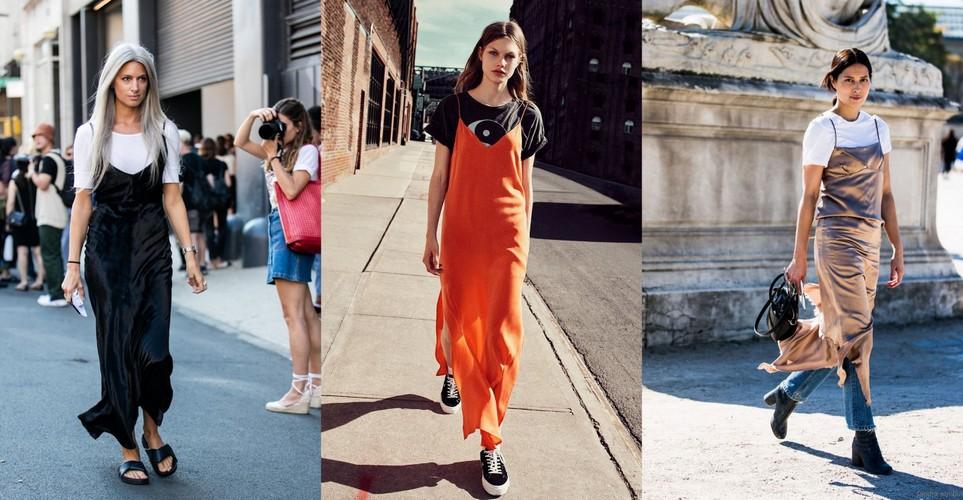 Πώς να φορέσεις το t-shirt μέσα από το φόρεμα όπως οι fashionistas στη Νέα Υόρκη