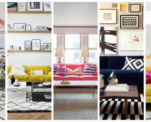 Καναπές με χρώμα