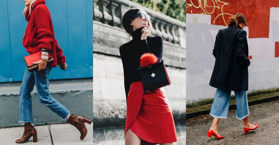 15 φορές που αγαπήσαμε το κόκκινο χρώμα στο street style φέτος