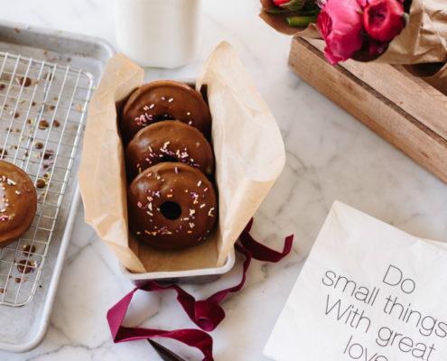 Donuts με γλάσο μελάσας
