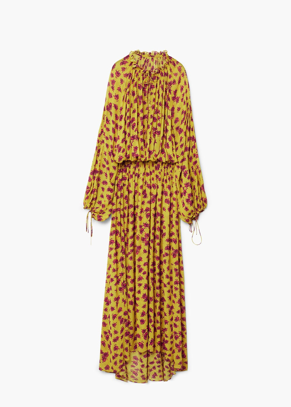Embossed flower gown, Mango