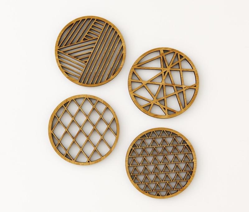 geometric-bamboo-coasters-set-of-4