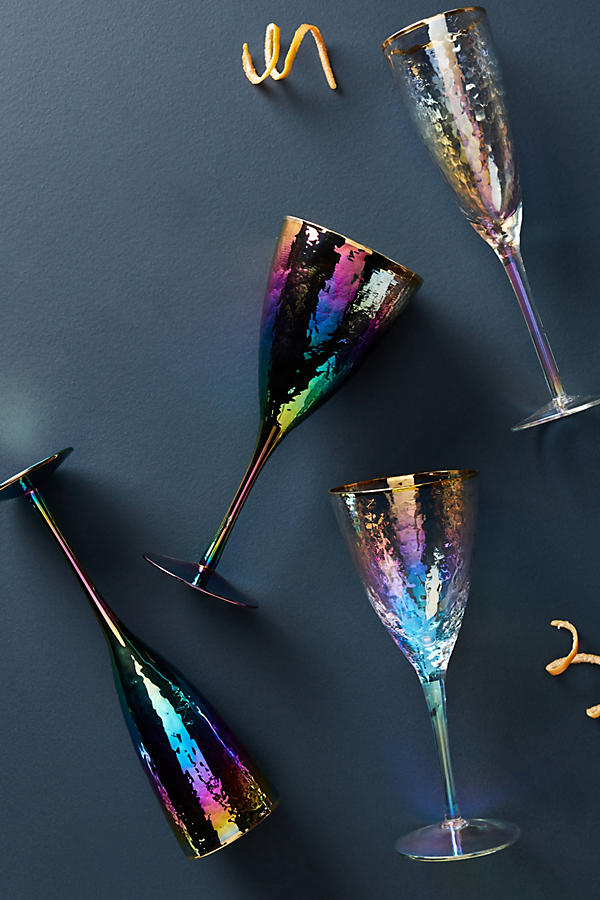 Lustered Wine Glass - Anthropologie
