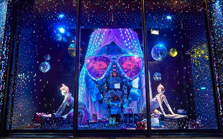 Harvey Nichols Christmas Windows 2015 - the department_store turned to Studio 54 for inspiration for this year's_windows