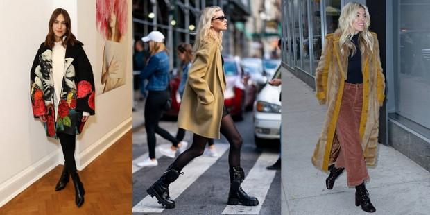 Kaia Gerber, Sienna Miller και άλλα 5 it-girls της μόδας έκαναν έμπνευση τον συνδυασμό 'παλτό & μπότες'