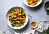 Koτόπουλο με λαχανικά και κουρκουμά