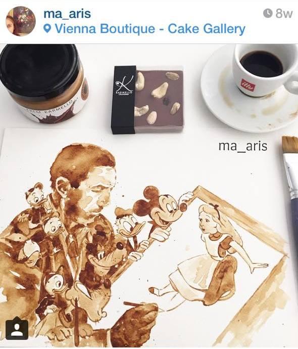Mαρια Αριστειδου Εργα τεχνης με ... καφε (1)