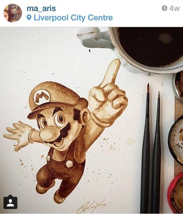Mαρια Αριστειδου Εργα τεχνης με ... καφε (3)