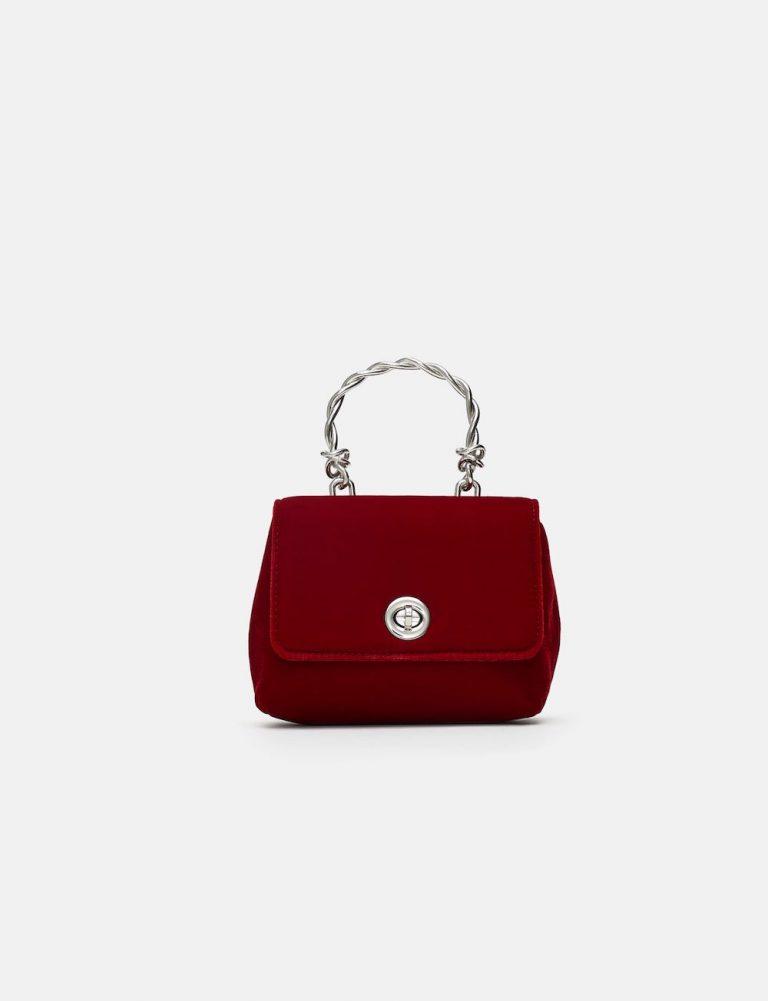 Mini Velvet Crossbody Bag, Zara