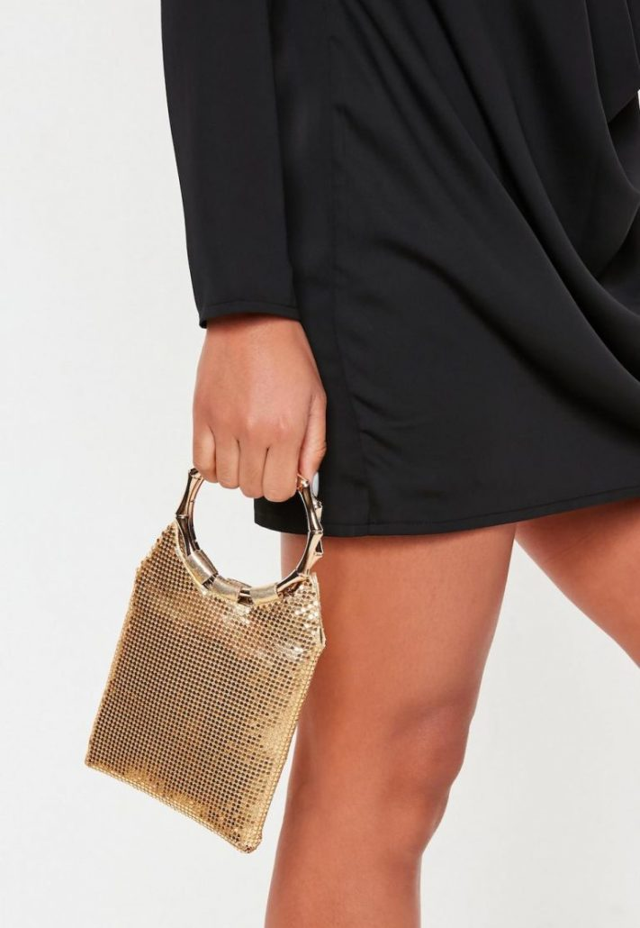 Misguided Chain Mail Ring Handle Bag, ASOS