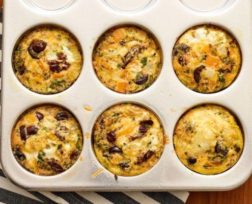 Muffins με ελιές για πρωινό