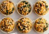 Muffins με σπανάκι και τσένταρ, ιδανικά για το brunch σου