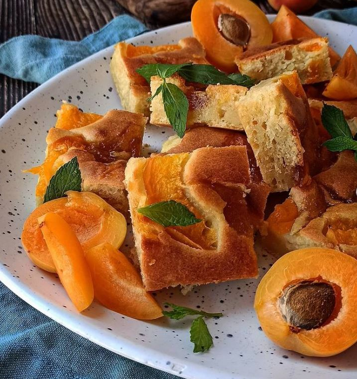 Pancakes φούρνου με μαρμελάδα βερίκοκο