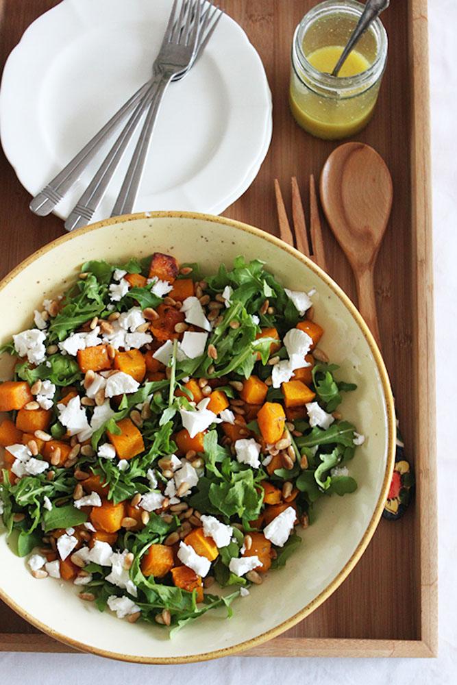 Roast-pumpkin-avo-and-feta-salad