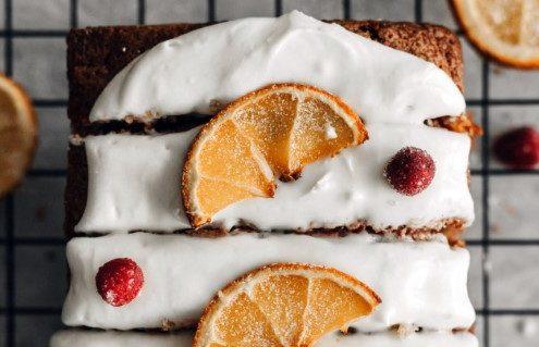 Cranberry bread με πορτοκάλι και cream cheese