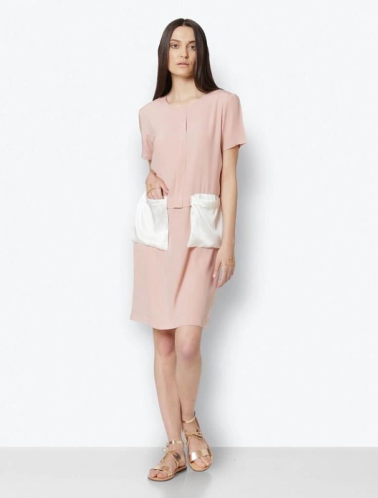Silk, pink dress (Custom)