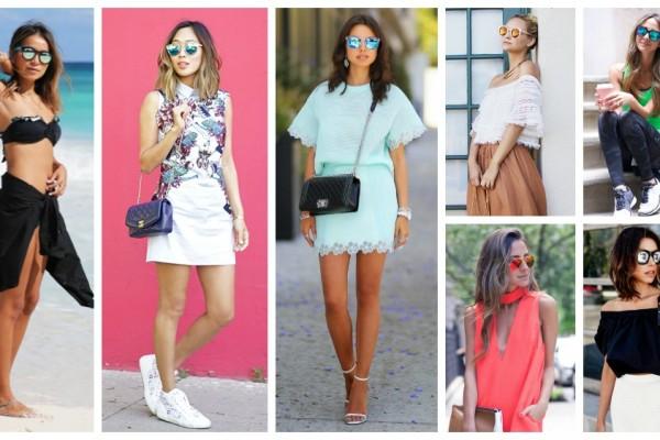 Summer trend  mirrored sunglasses savoir ville (2)